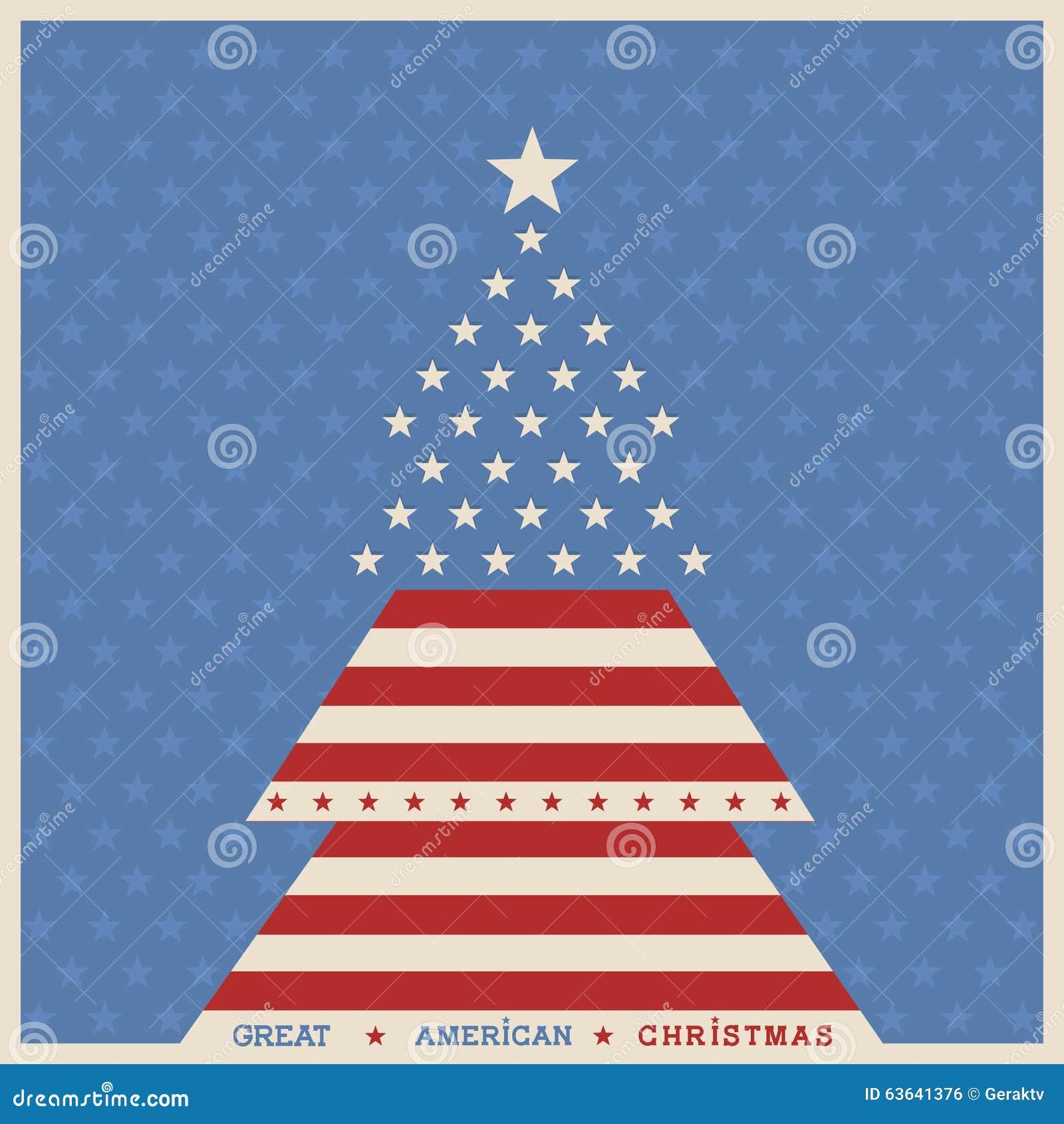 american christmas tree poster background - American Christmas