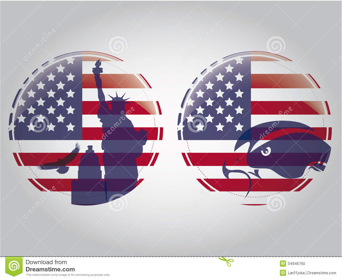 American Circles Stock Vector Illustration Of Image 34946760
