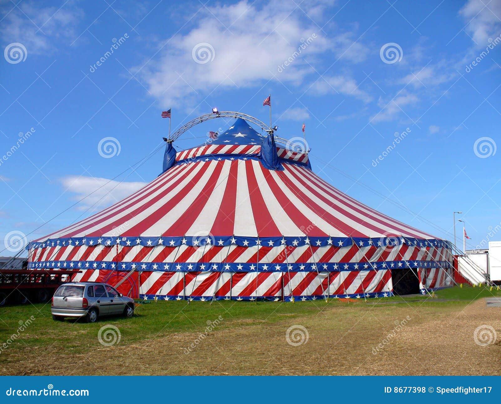 American Circus Tent Exterior Stock Photo Image 8677398