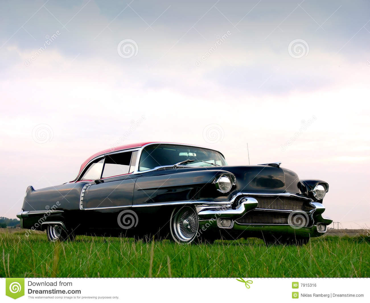 American classic black 1950s car royalty free stock for American classic automotive