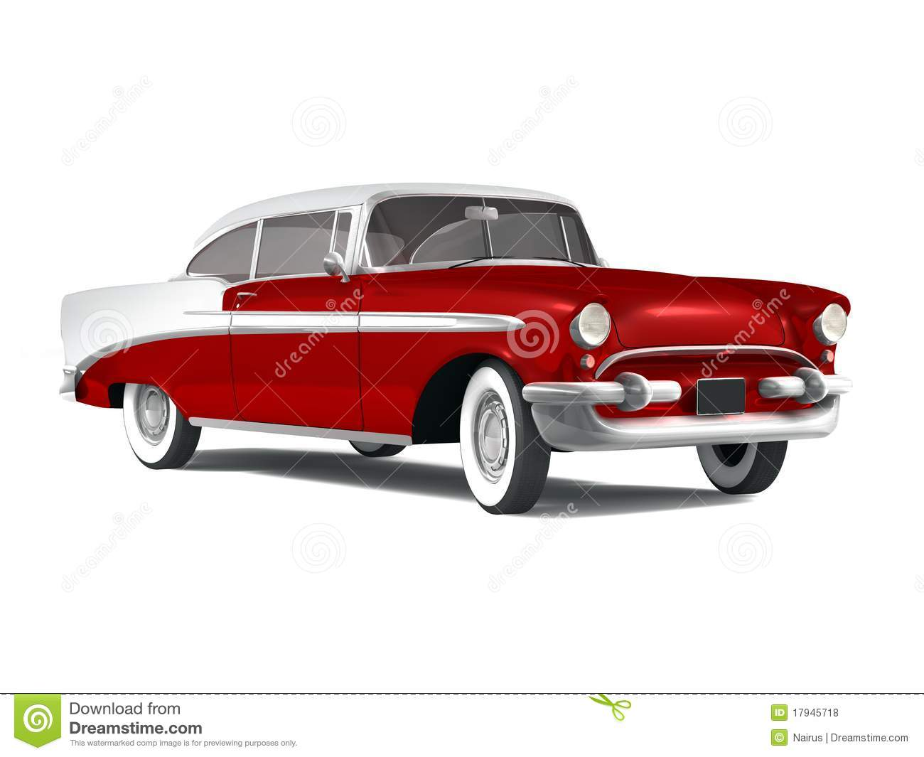 Red classic car clipart images for American classic automotive