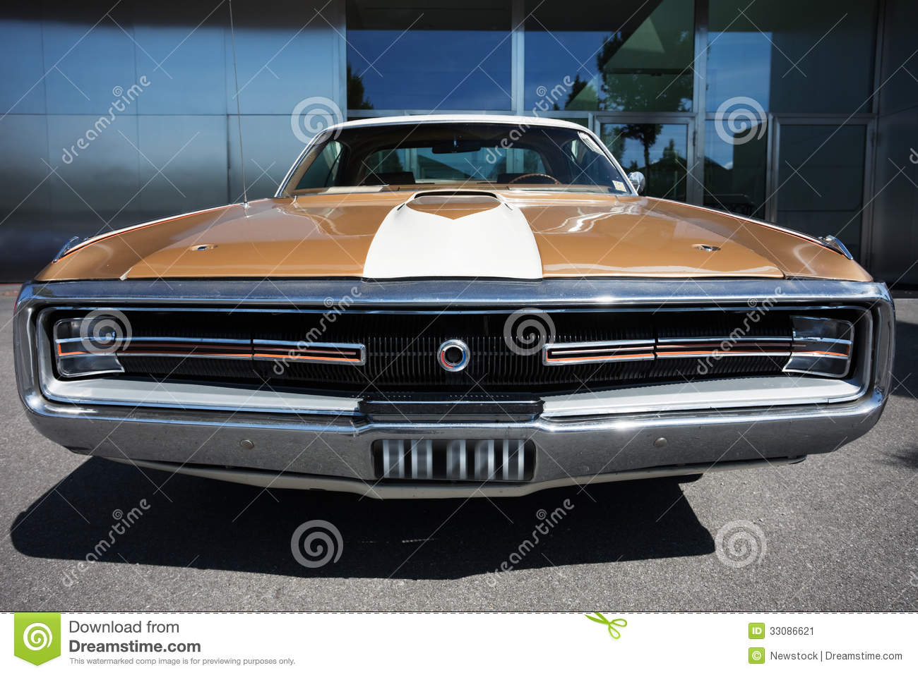 American Classic Car, Front View Stock Image - Image of original, up ...