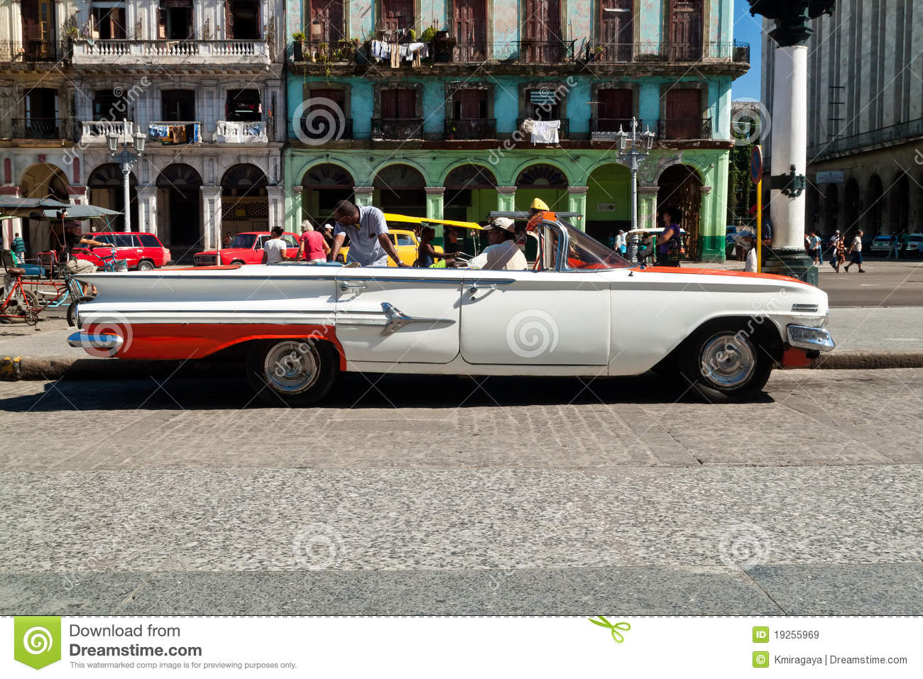 American classic car in havana editorial photo for American classic automotive