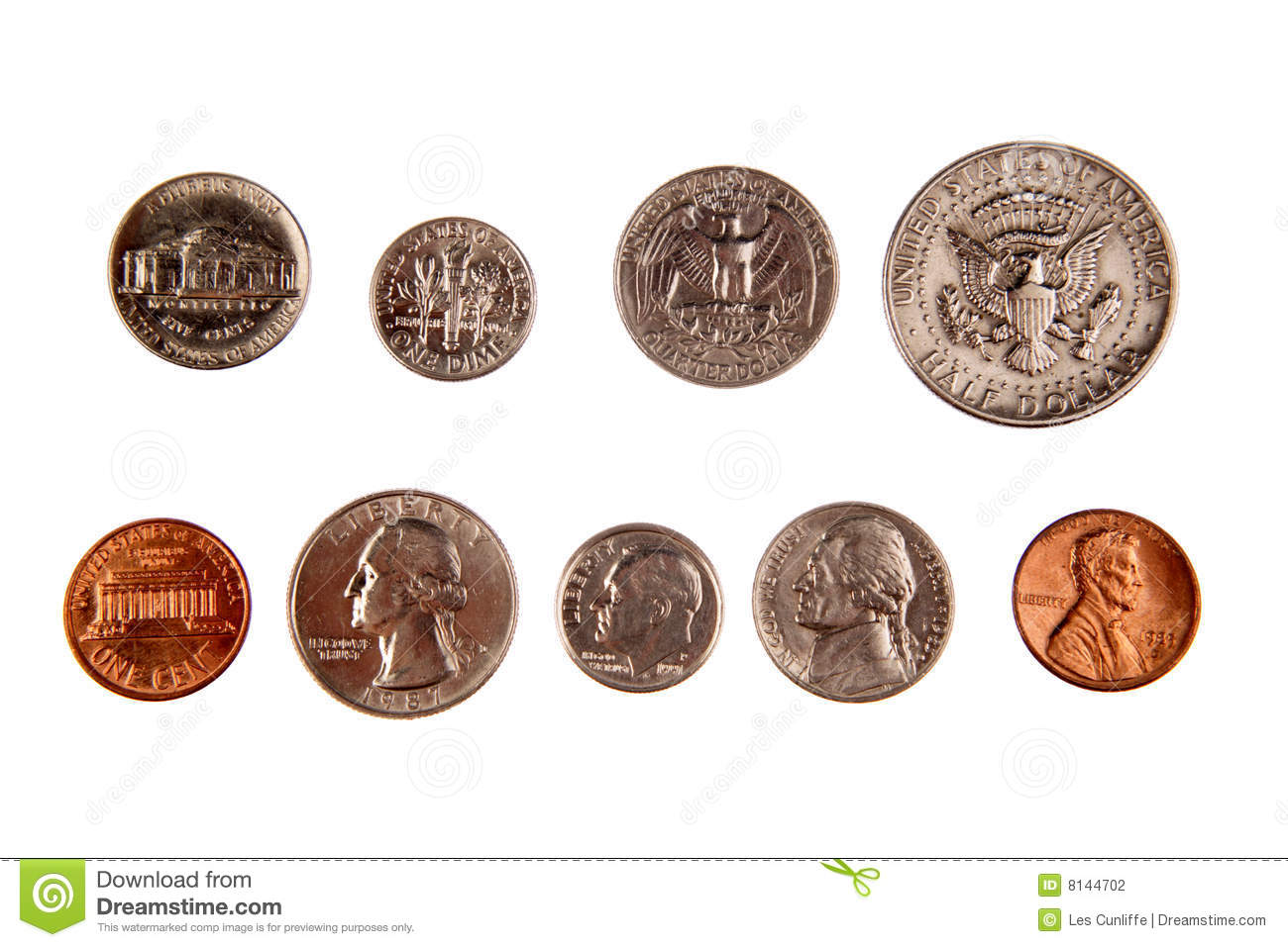 American Coins Stock Photography - Image: 8144702