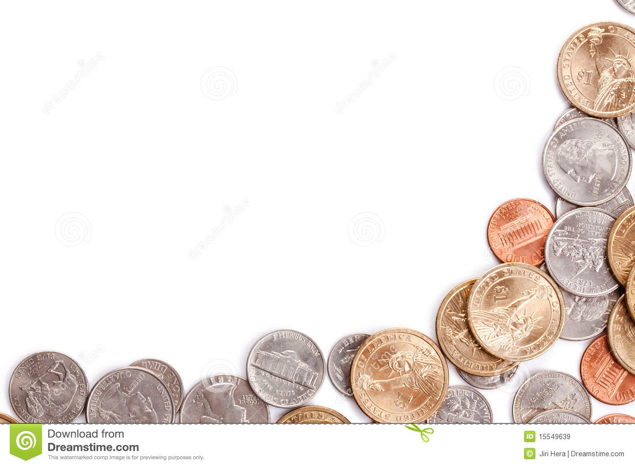 American Coins Background Royalty Free Stock Images