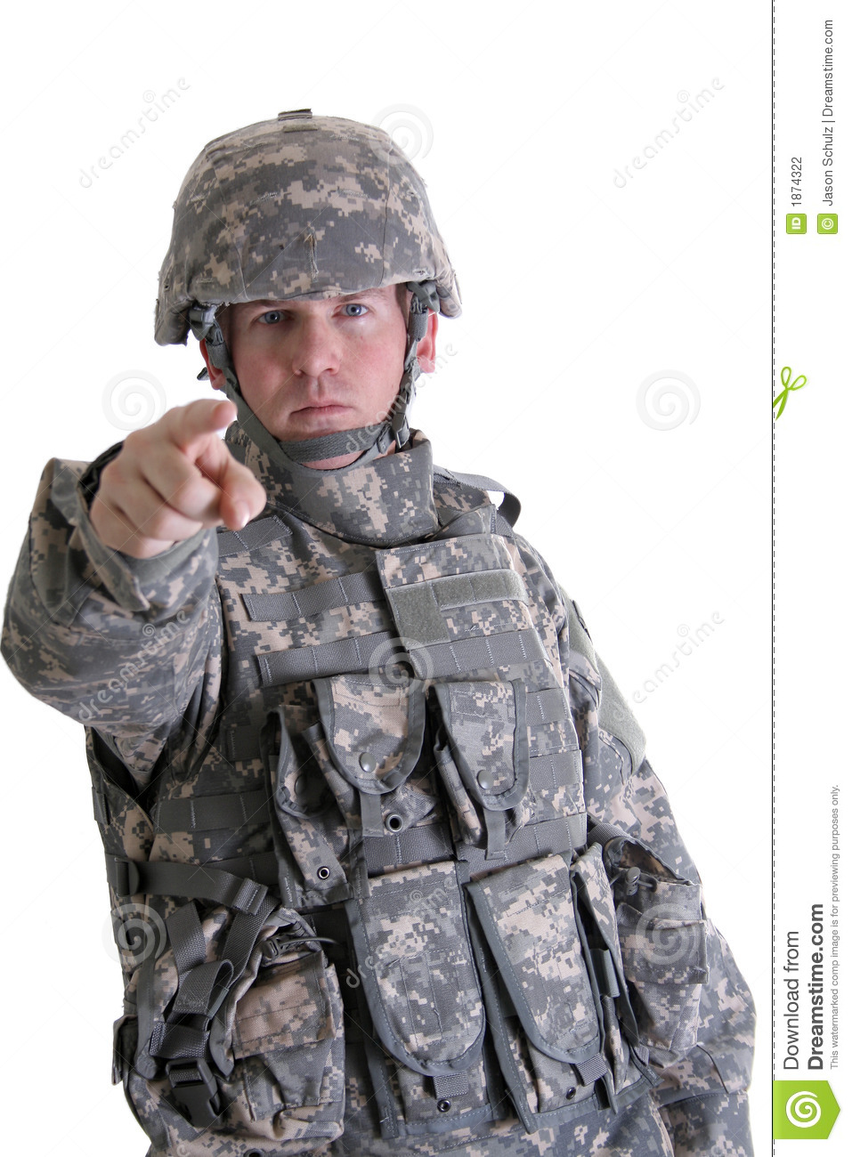 American Combat Soldier Pointing Stock Photography - Image: 1874322