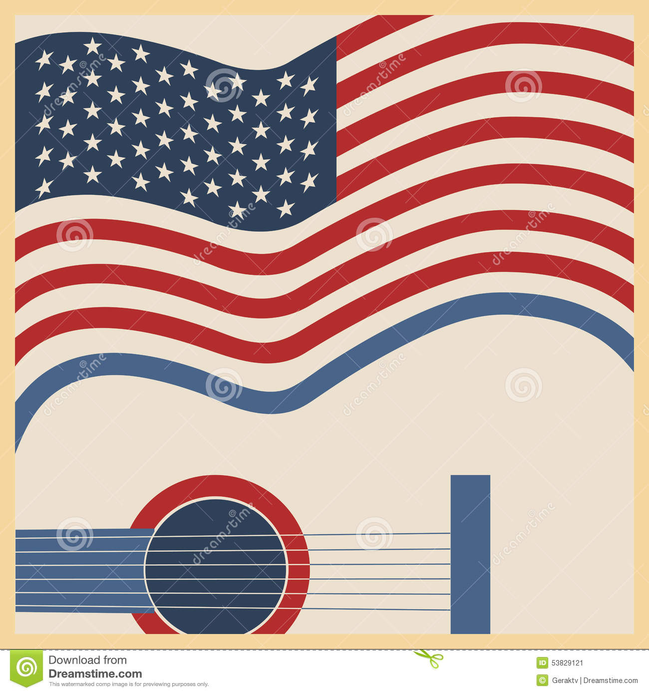 american country music poster stock vector image 53829121