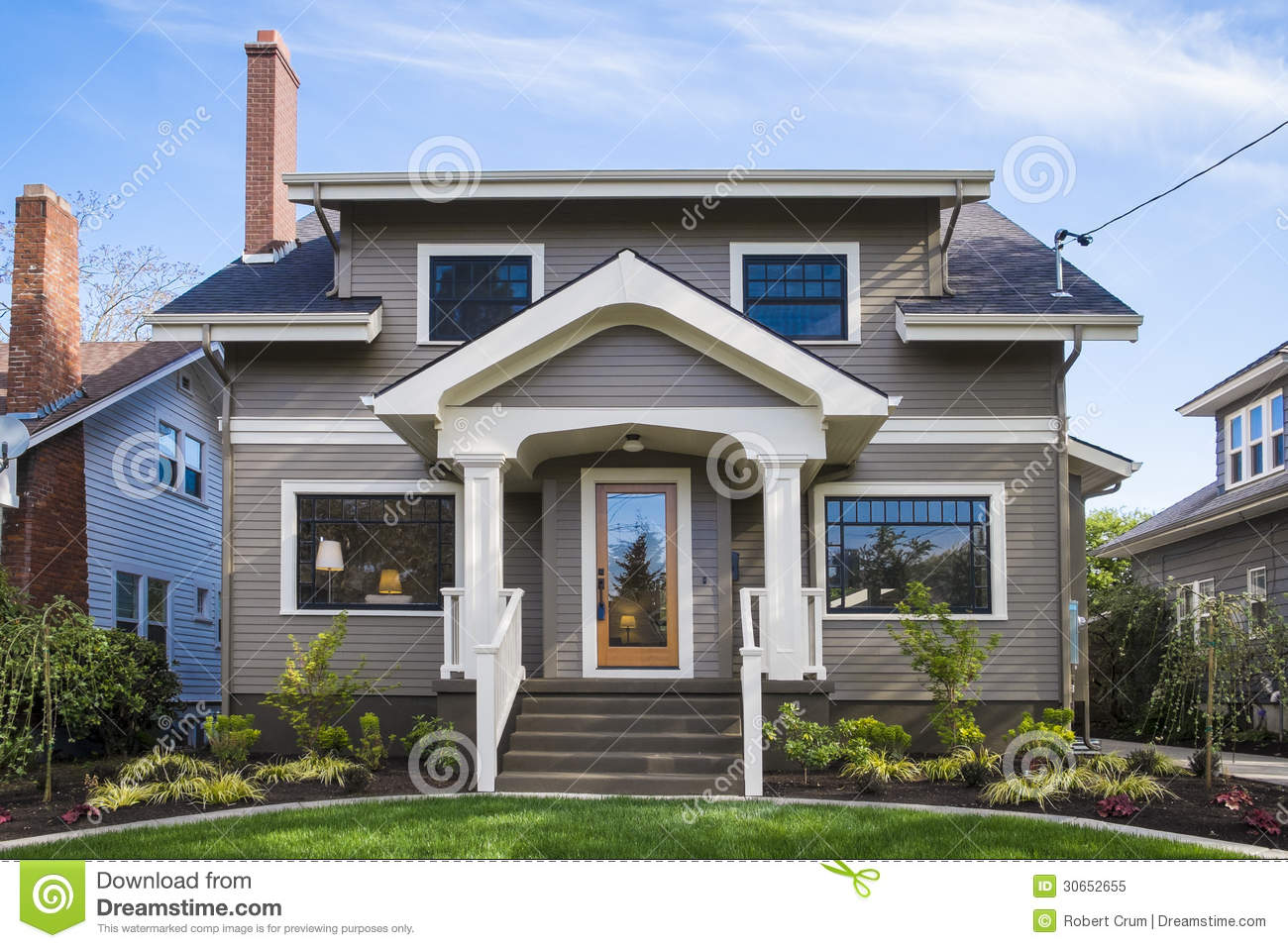 American Craftsman House Royalty Free Stock Photo Image