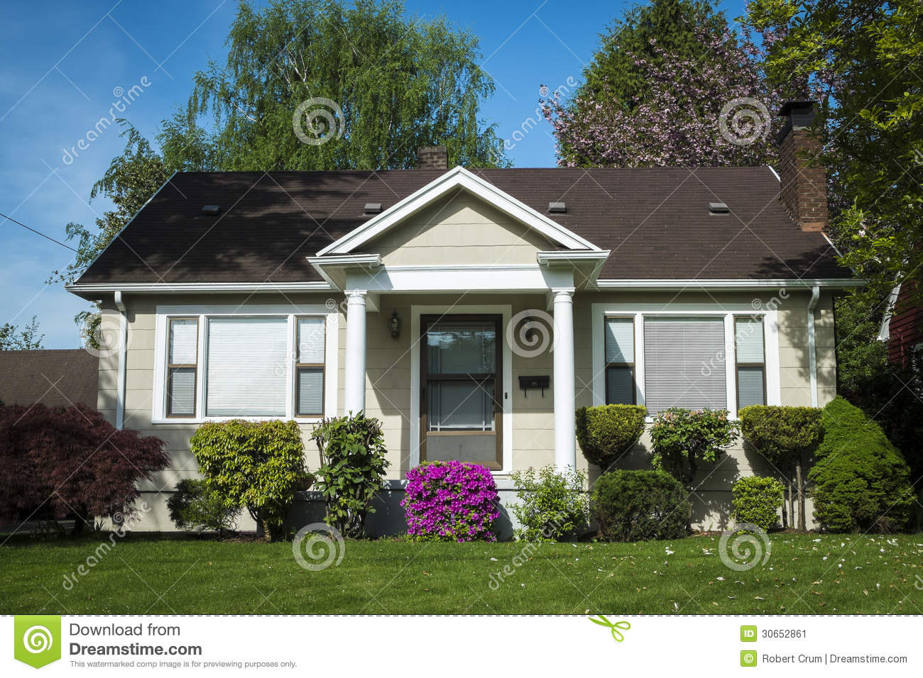 American craftsman house stock image image 30652861 for American craftsman homes