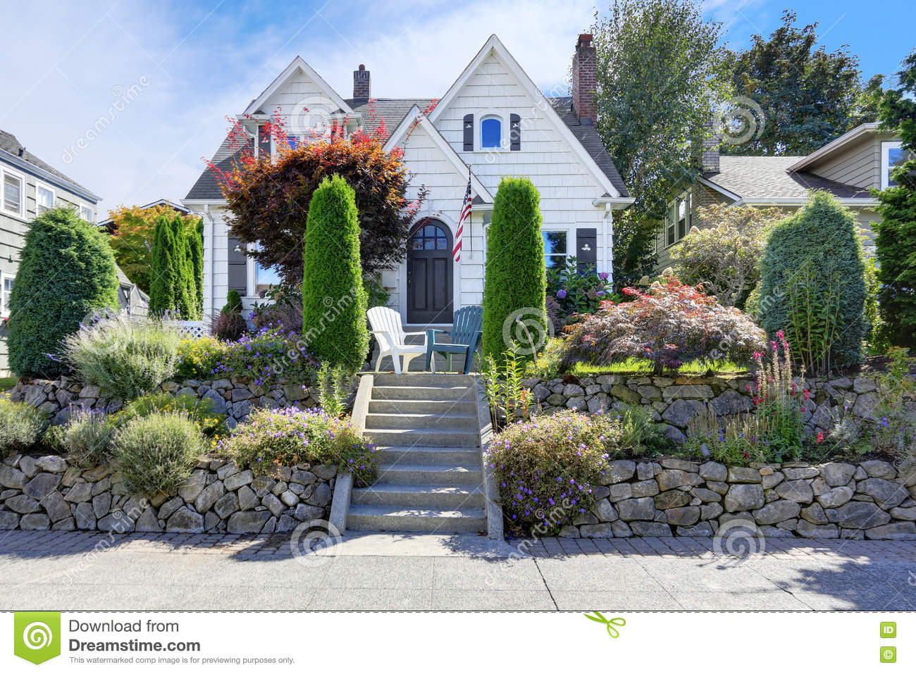 Top American Craftsman Style Home - american-craftsman-style-home-beautiful-landscape-design-trimmed-shrubs-rocks-flowers-northwest-usa-80525551  Best Photo Reference_3365.jpg