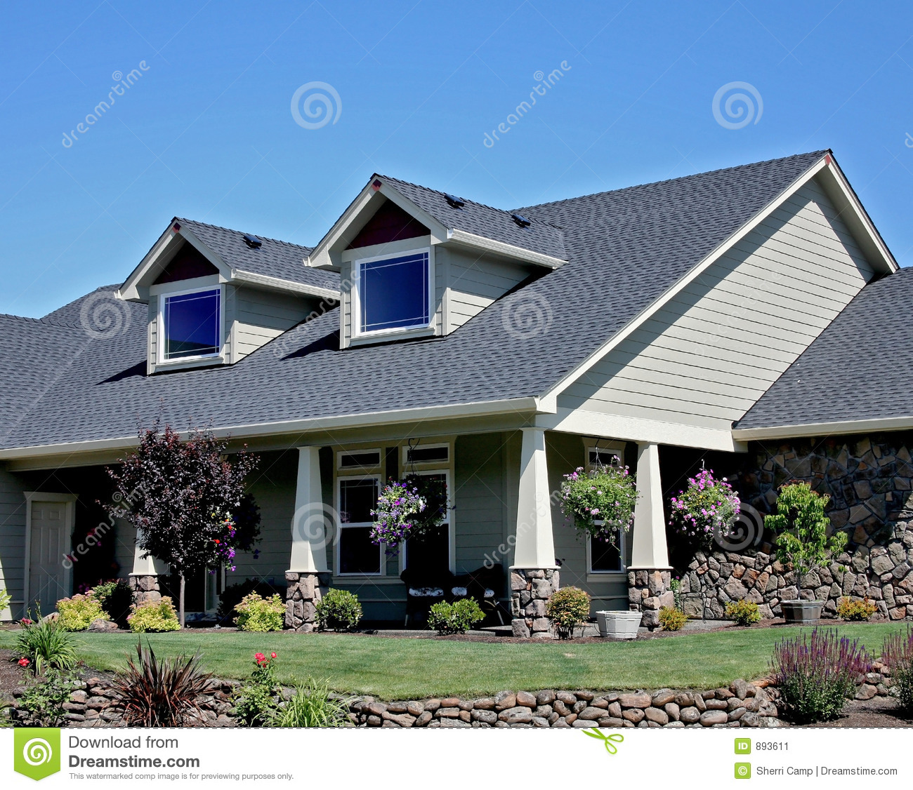 American craftsman style house stock image image 893611 for American craftsman homes
