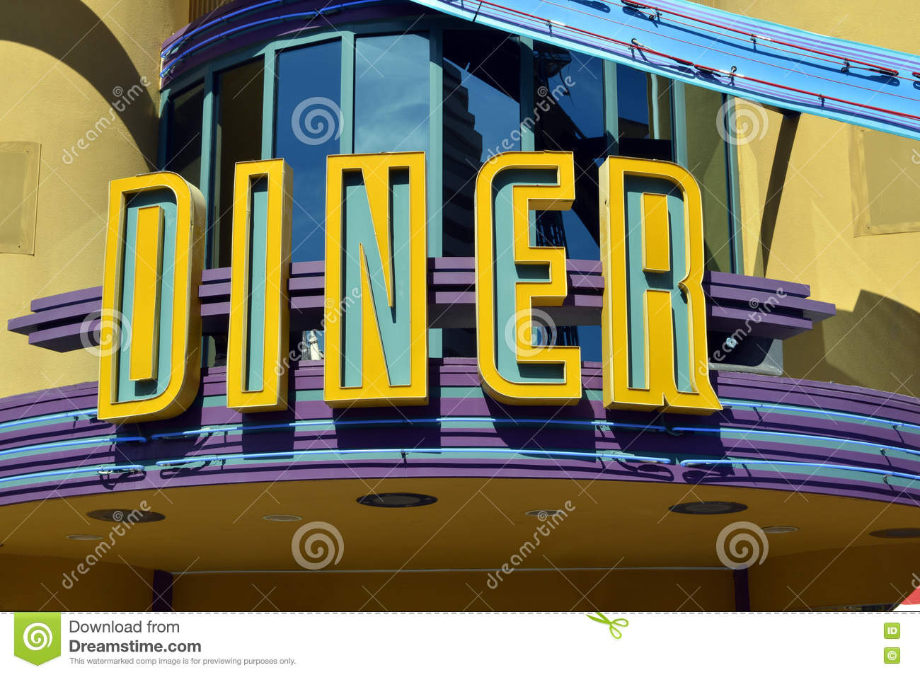 American Diner sign stock photo. Image of front, florida - 80760434