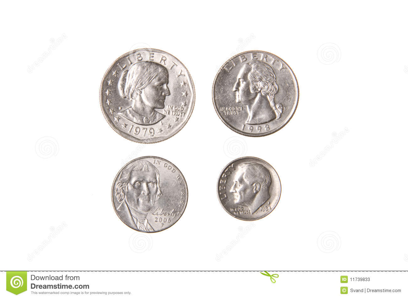 American Dollar Cent Coin Stock Image Image Of Mint