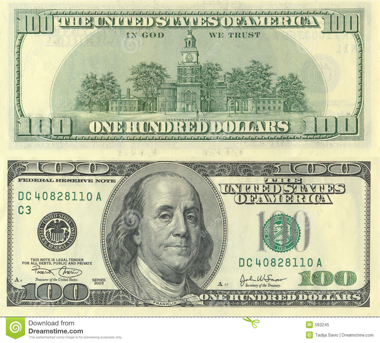 American Dollars Royalty Free Stock Photo - Image: 593245