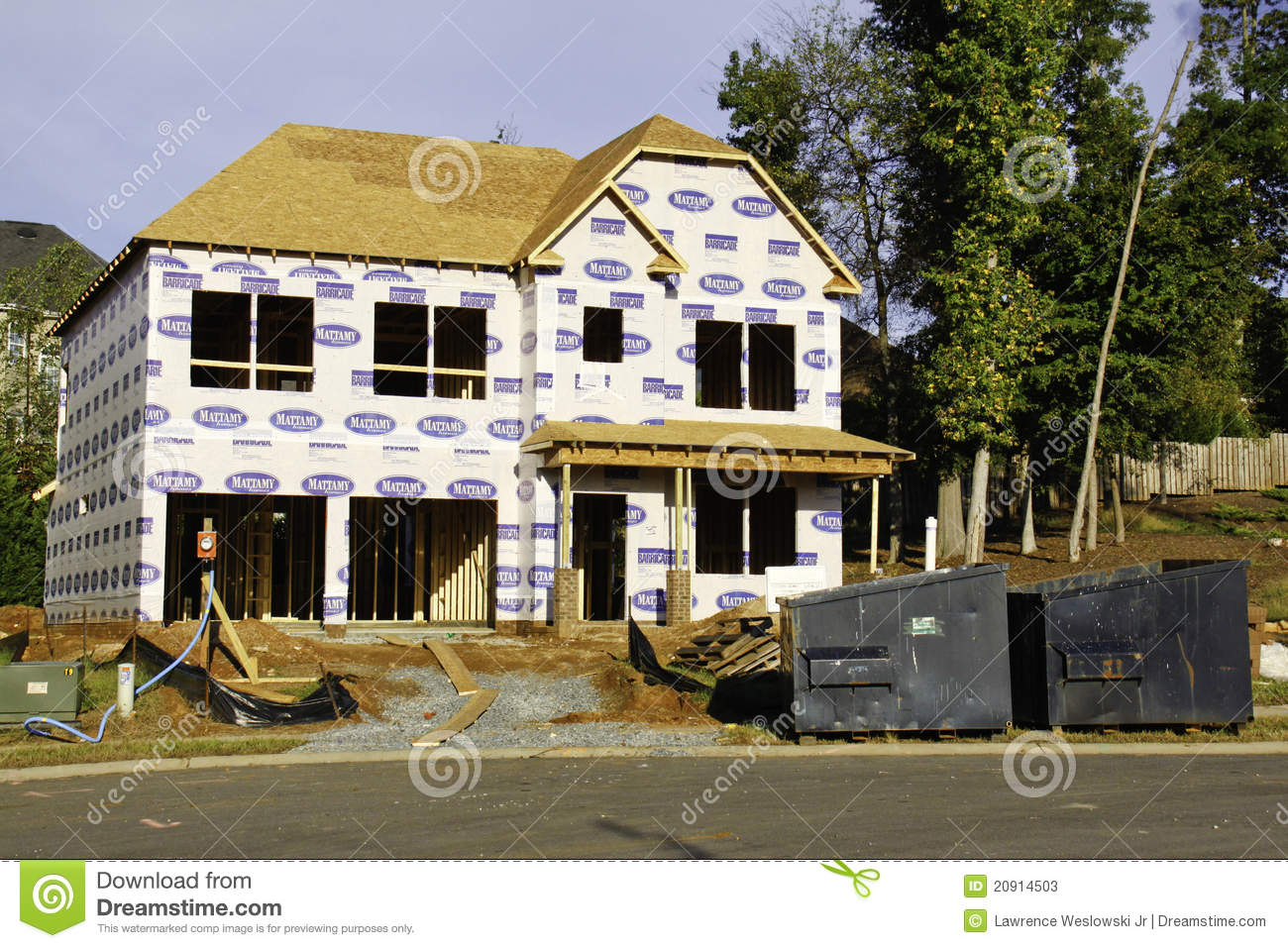 American Dream Building A New Home Editorial Stock Photo