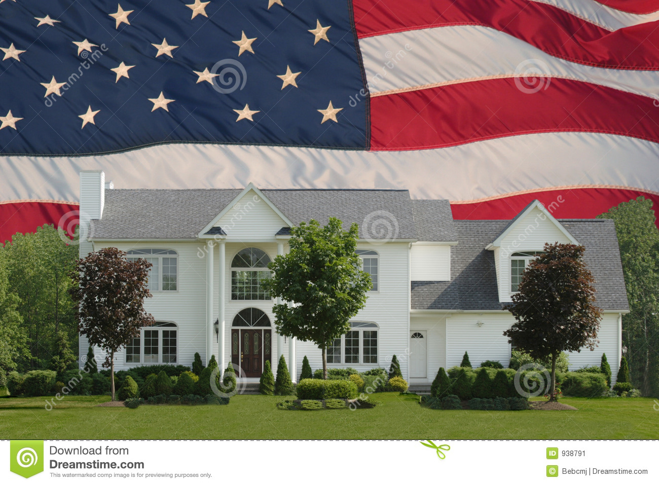 American Dream Home Stock Image Image 938791