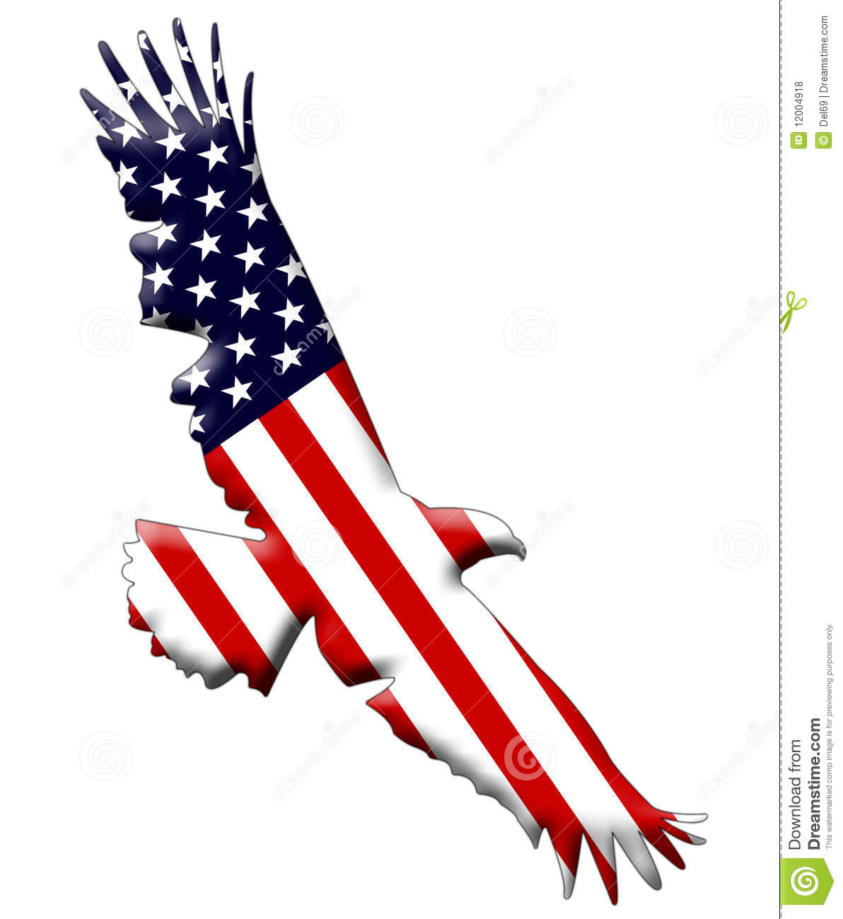 American Eagle Flag Stock Illustration Illustration Of Symbol