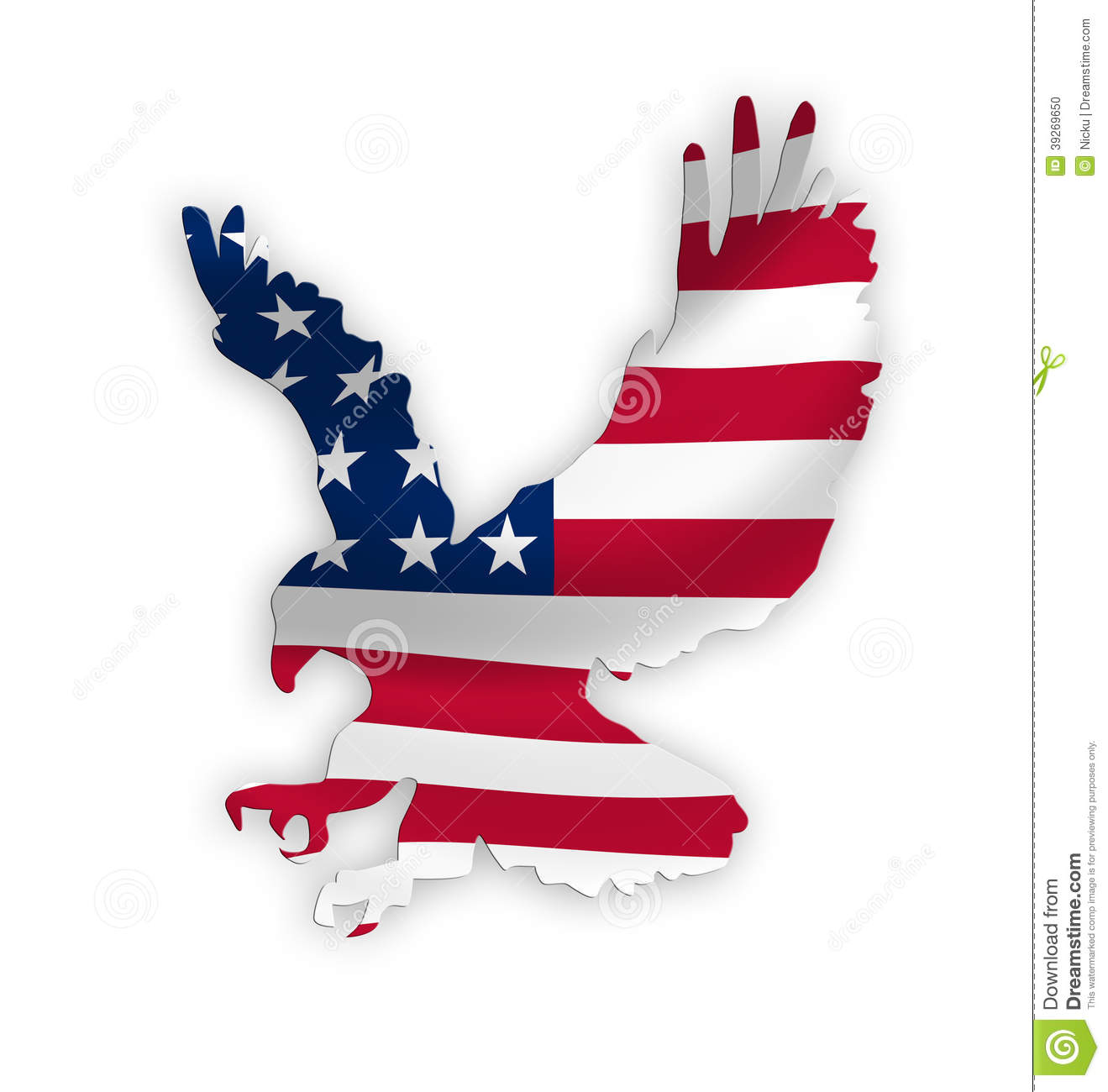 American Eagle Flag Stock Illustration Illustration Of Patriotic