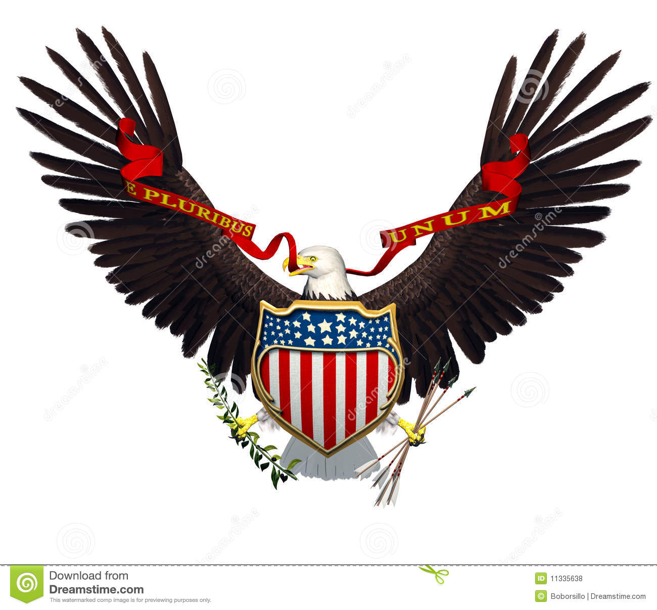 American Eagle Freedom Symbol Stock Illustration Illustration Of