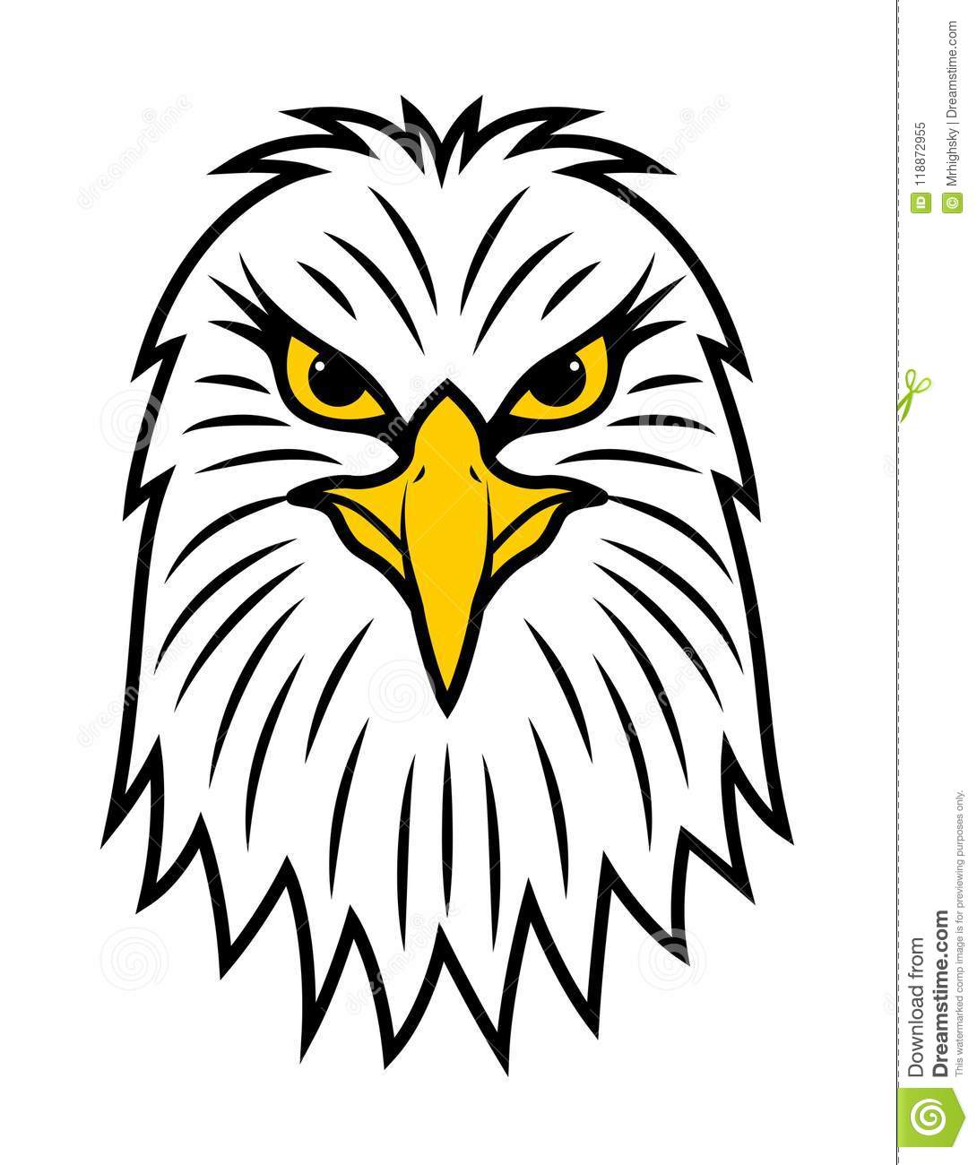 American Eagle Head Front View Stock Vector Illustration Of View