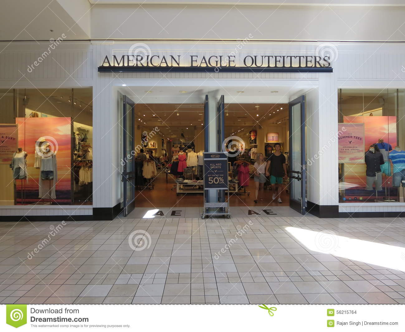 AMERICAN EAGLE OUTFITTERS Editorial Stock Image Of Mall