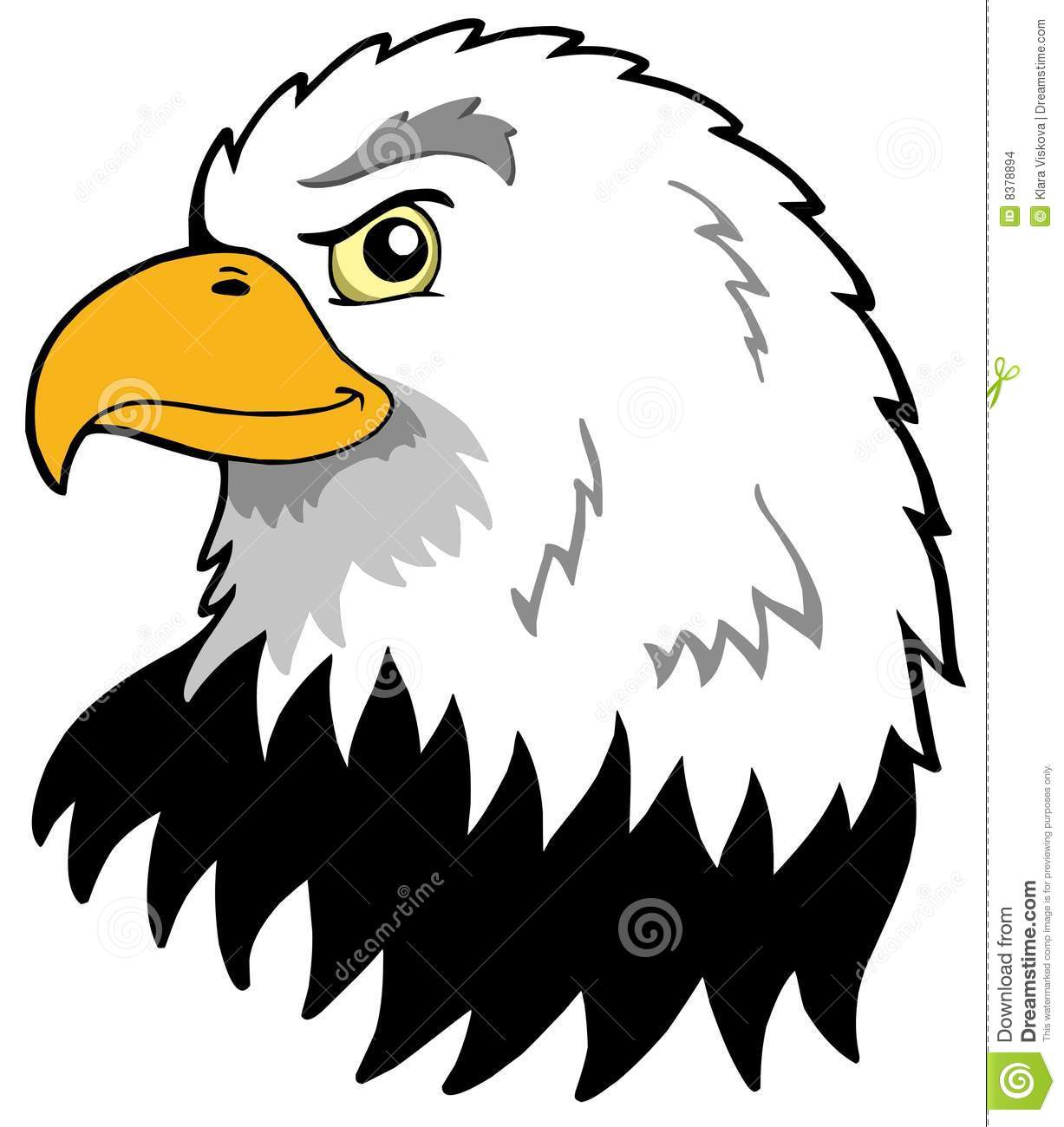 American Eagles Head Stock Vector Illustration Of Drawing