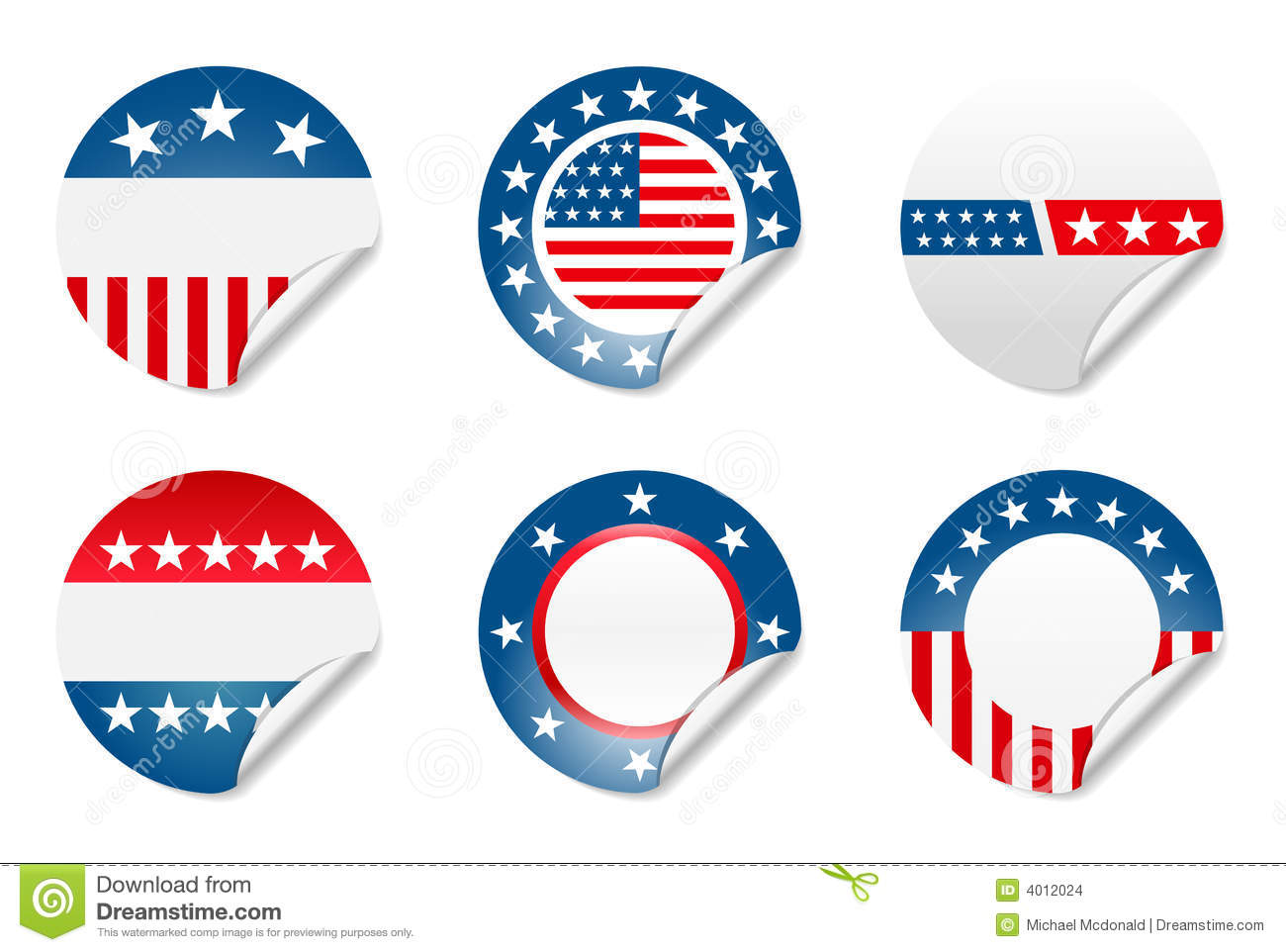american election campaign stickers stock images image 4012024. Black Bedroom Furniture Sets. Home Design Ideas