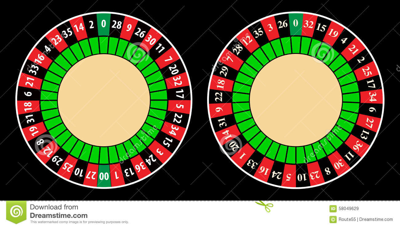 american and european roulette wheel stock vector illustration of illustration color 58049629. Black Bedroom Furniture Sets. Home Design Ideas