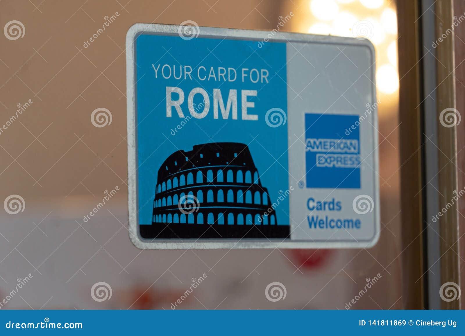 American Express su tarjeta para Roma