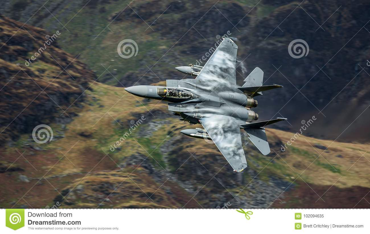 American F15 fighter jet aircraft
