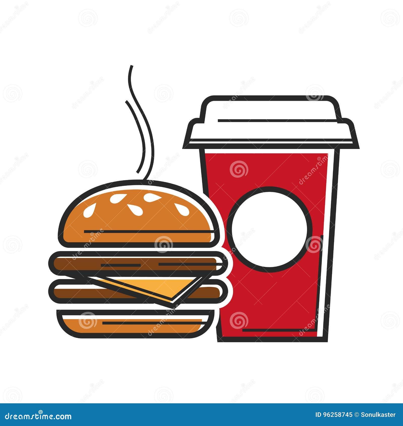 American Fast Food Symbols For Usa America Travel Tourist