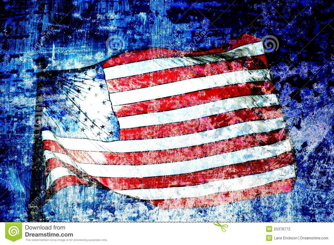 Abstract American Flag Art American flag art stock