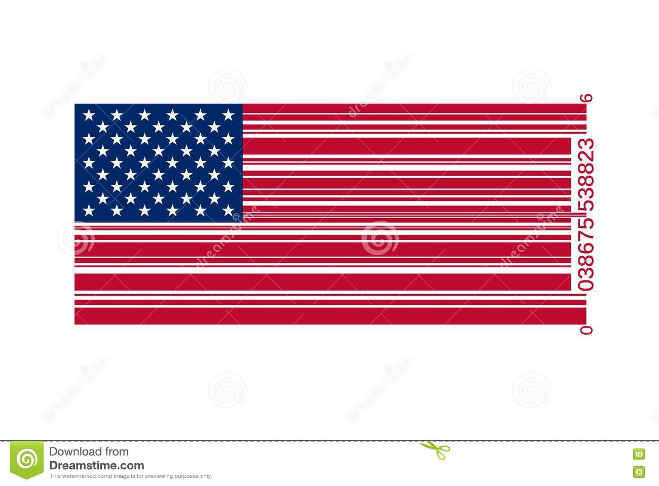 American Flag As Bar Code Royalty Free Stock Photo   Image  19425225 xE3LKnNh