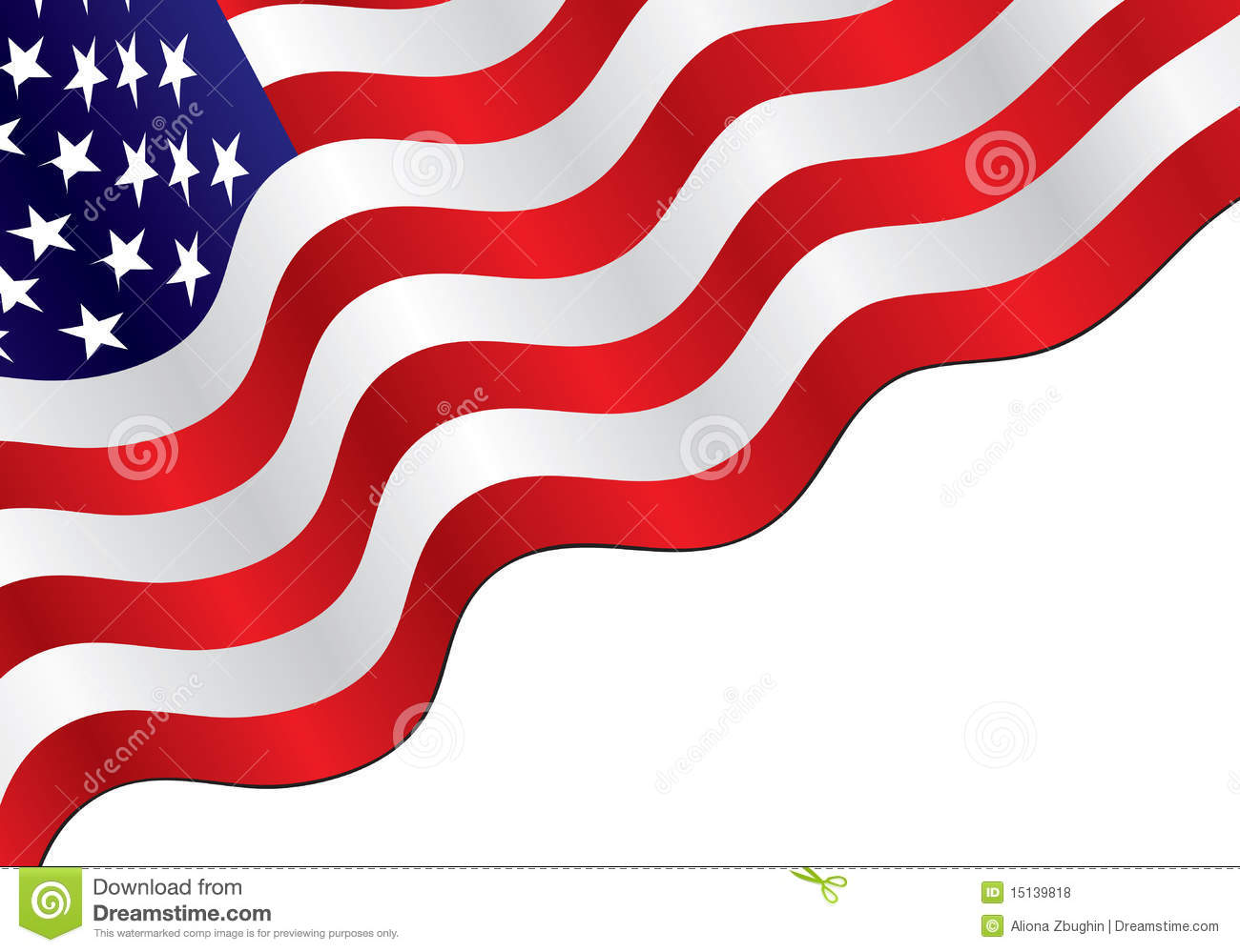 American Flag Background Royalty Free Stock Photos - Image: 15139818