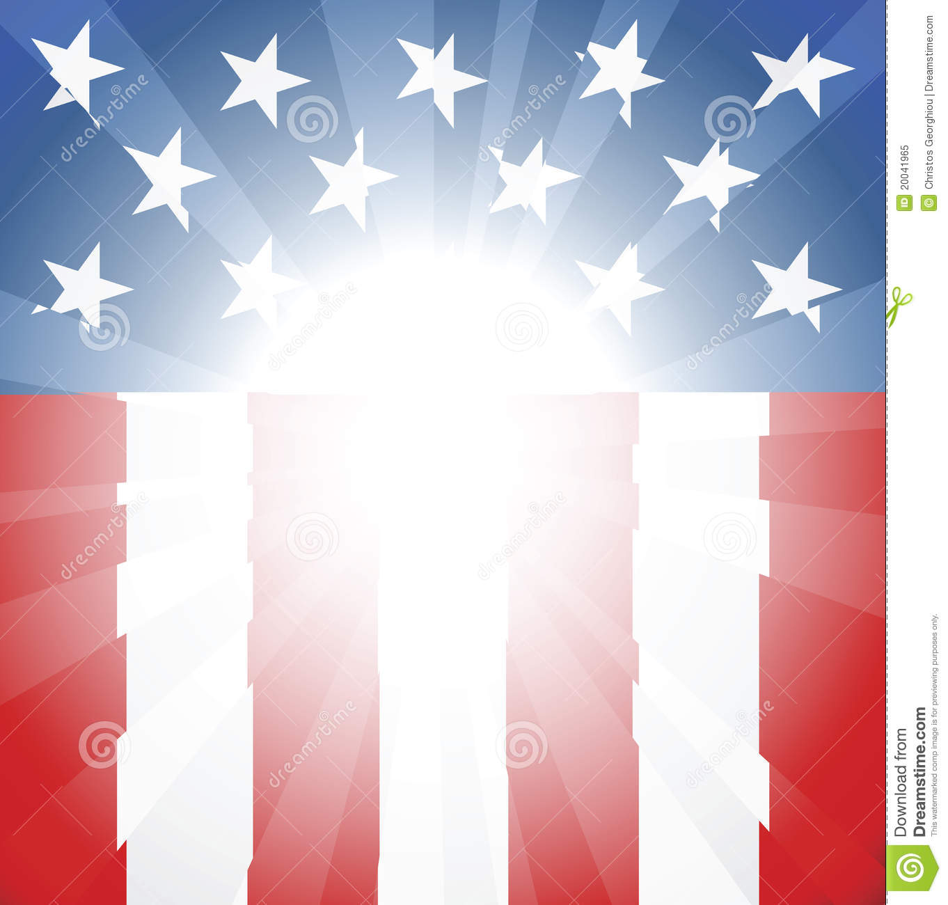 American Flag Background Stock Vector  Illustration Of