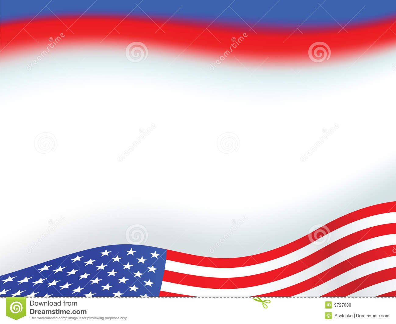American Flag Background Royalty Free Stock Photos - Image: 9727608