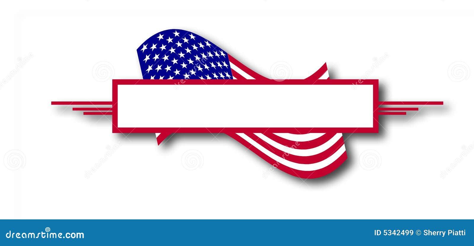 american flag banner stock illustration image of november