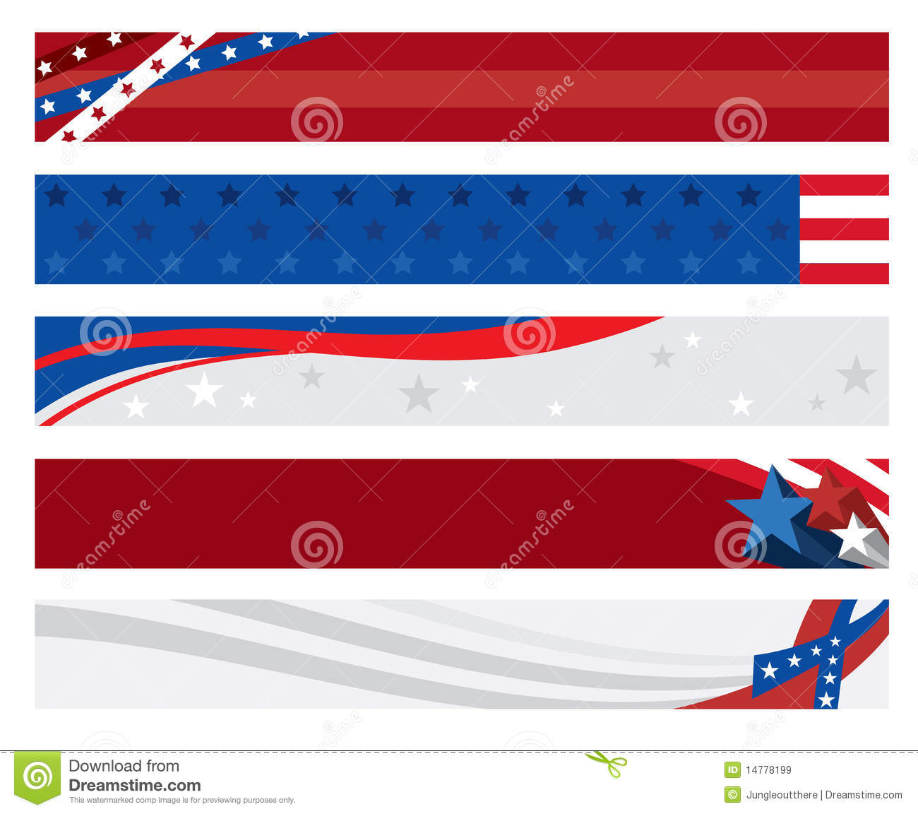 american flag banners stock vector illustration of banner 14778199