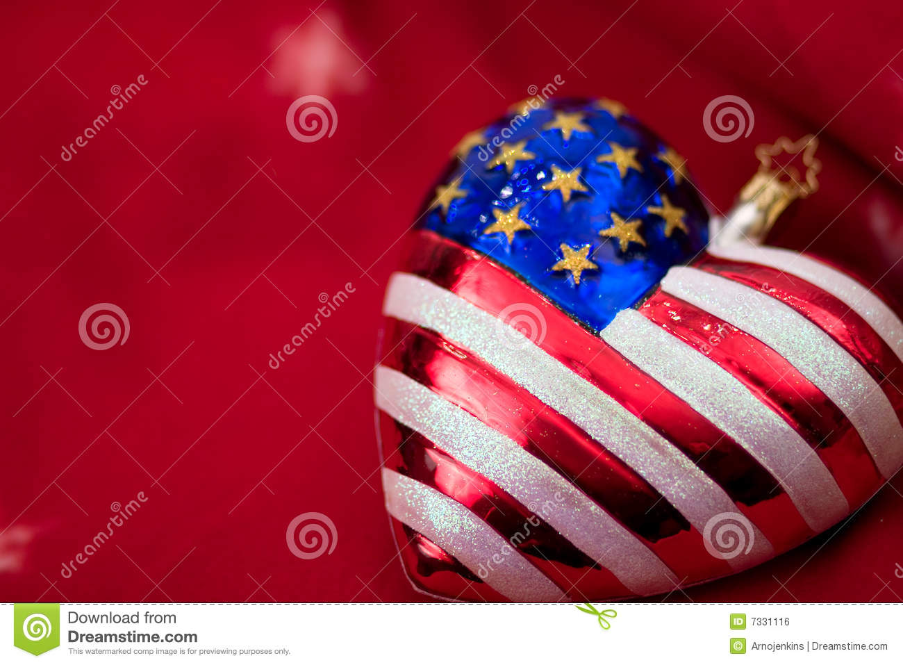 American Flag Christmas Ornament Royalty Free Stock Image - Image ...