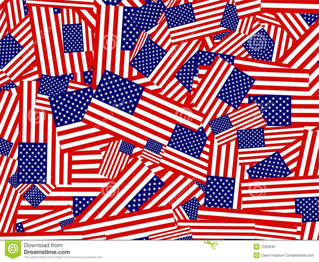 American Flag Collage Stock Photo Image 7283640