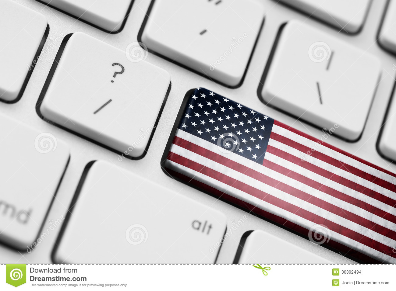 American Flag Computer Key Stock Photos Download 9 Images