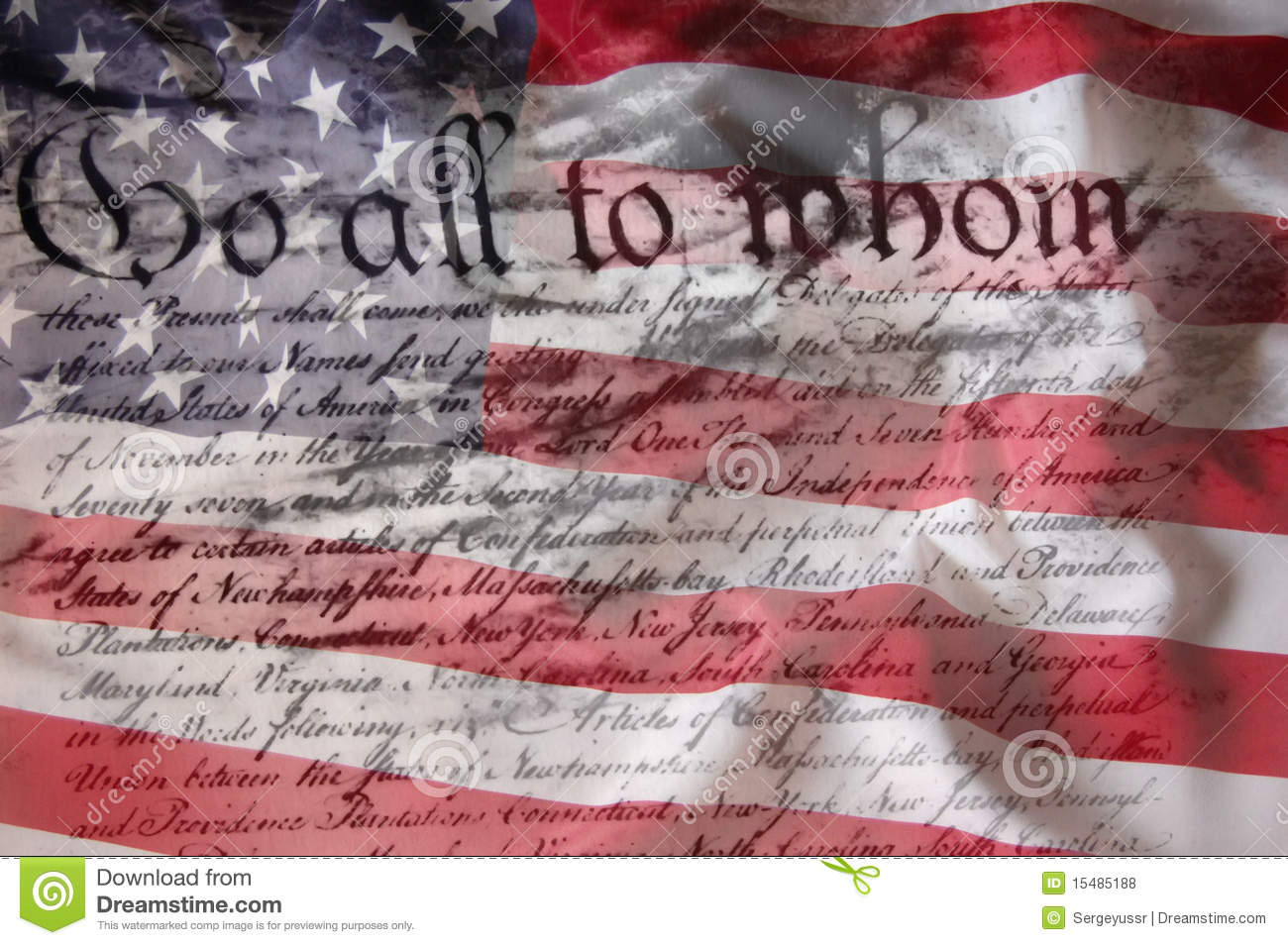 american flag  u0026 constitution royalty free stock photos