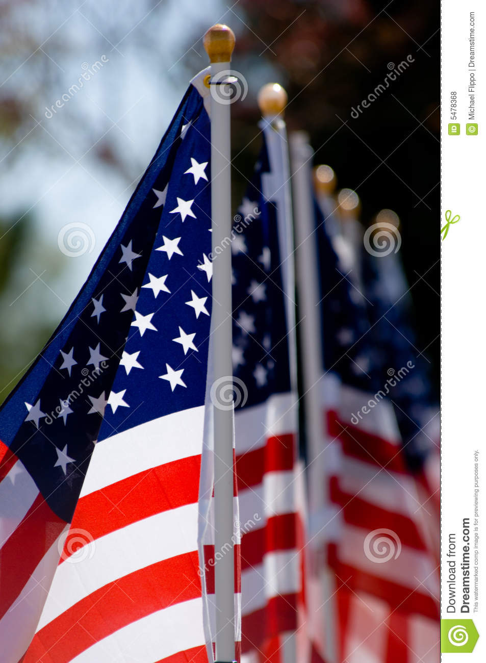 american flag display for holiday royalty free stock