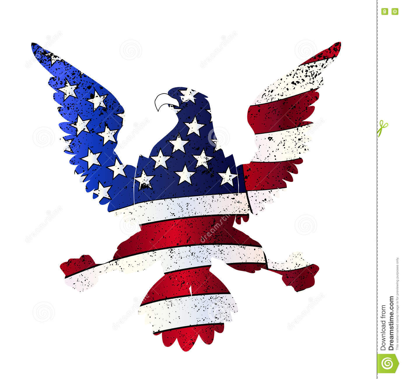 American Flag And Eagle Stock Vector Illustration Of Nobody 77645589