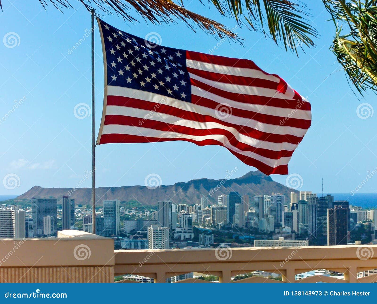 American flag punchbowl