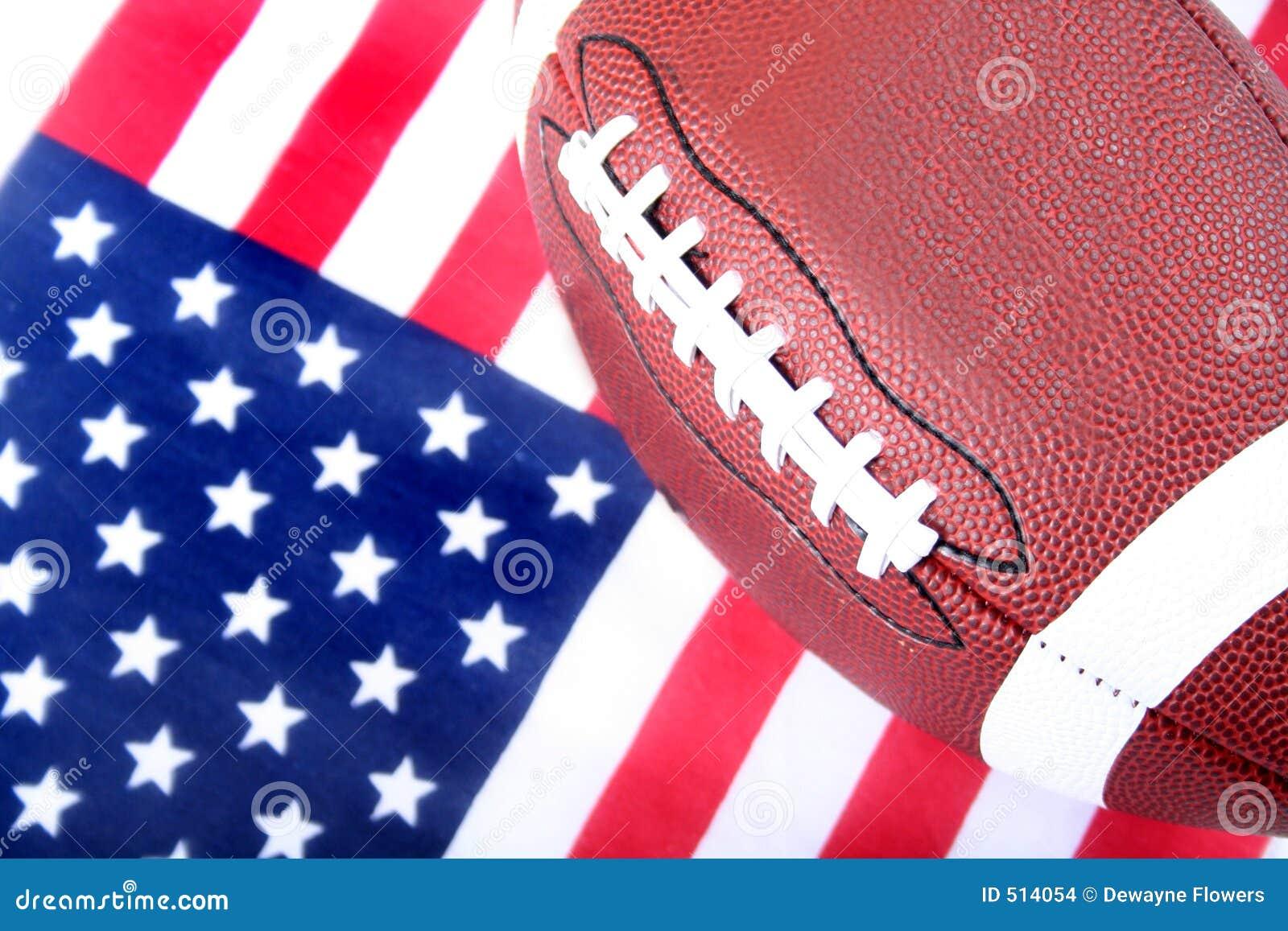 American Flag And Football Stock Photo Image Of Ball