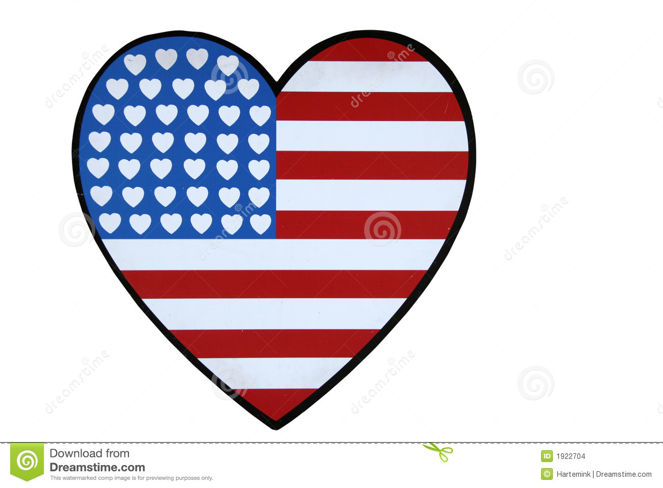 American Flag Of Hearts - Isolated On White Background Stock Images ...