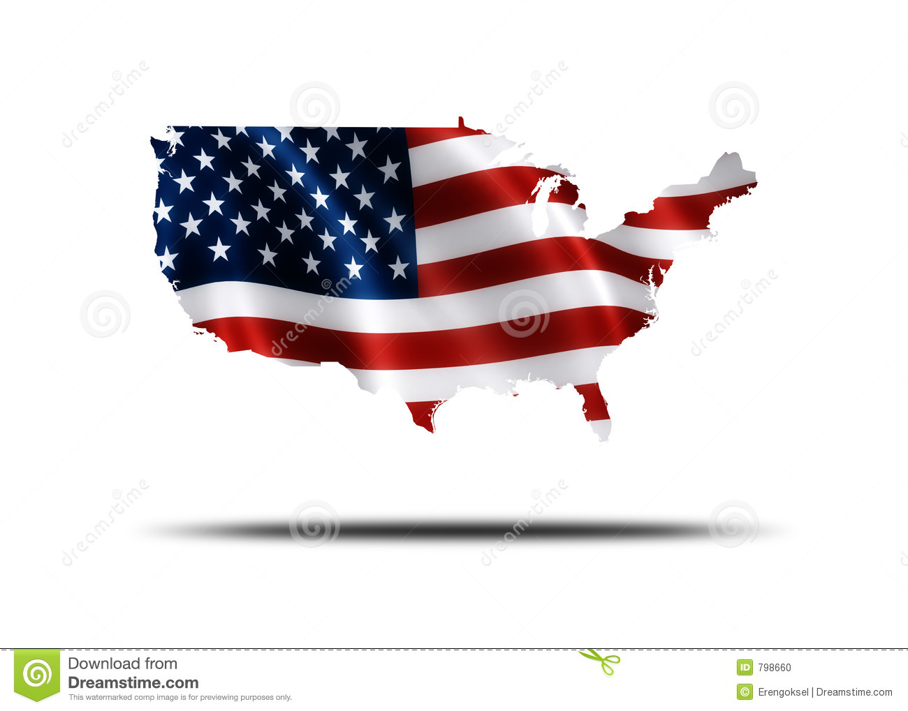 American Flag Map Stock Photo Image - Us flag and map