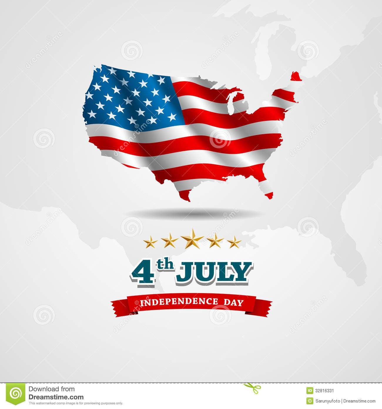 American Flag Map For Independence Day Stock Image Image - Us map independence