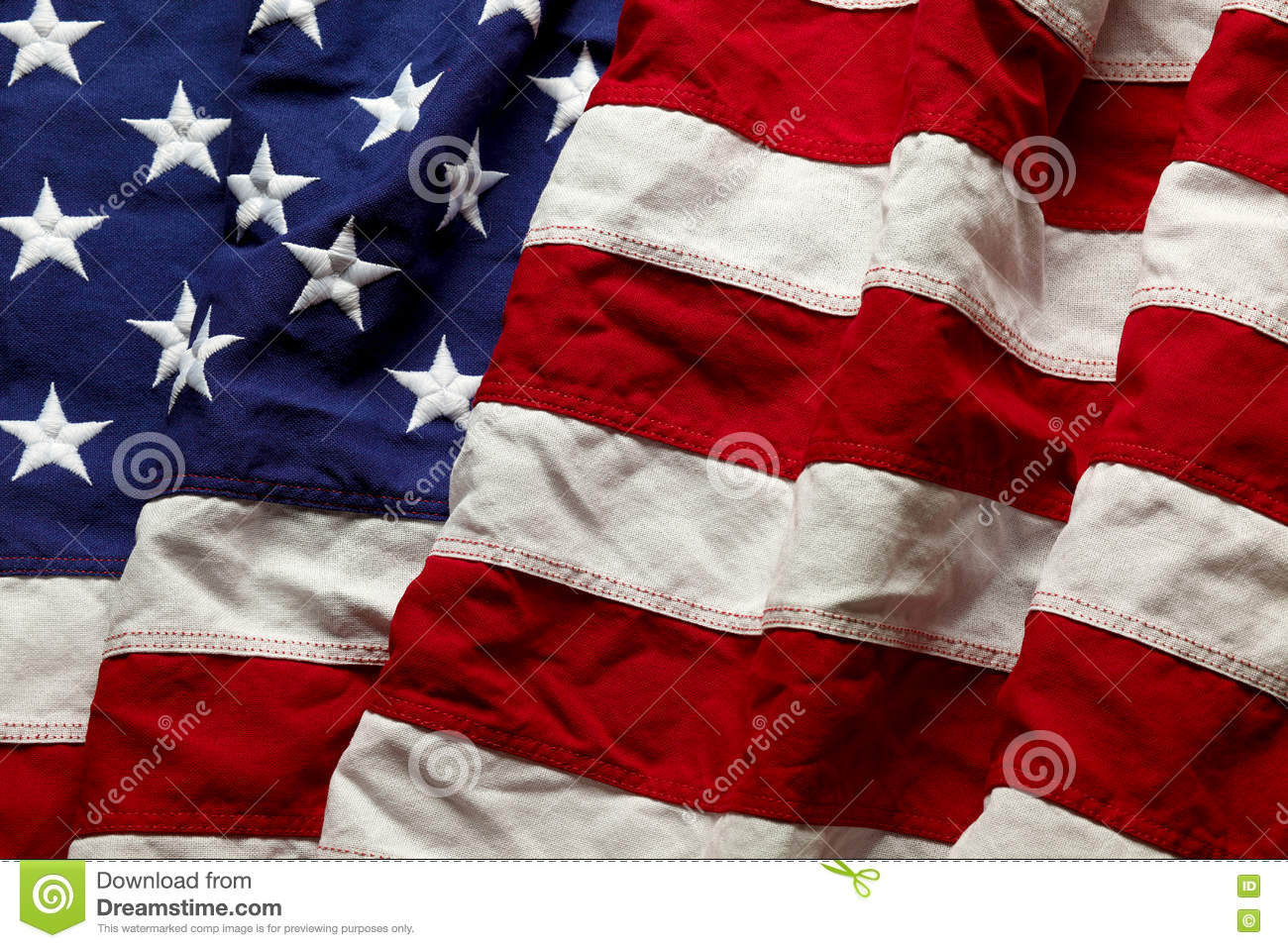 American flag for Memorial Day or 4th of July